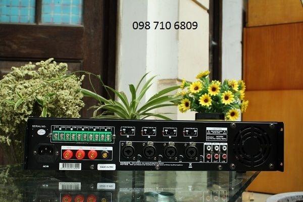 Mặt sau của AMPLY DB LP-100T CHIA 5 VÙNG 100W