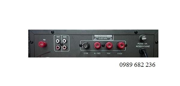 Mặt sau Amply APU USB 60W