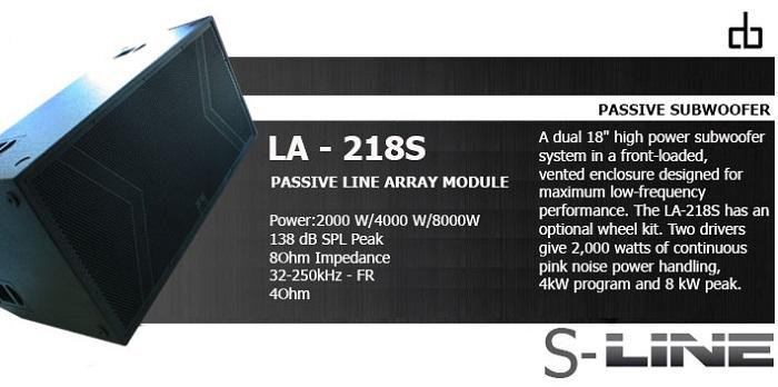 Loa sub DB LA 218S đỉnh cao của chất lượng
