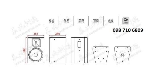 Thiết kế của Loa CF TQ 12