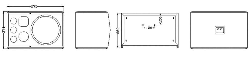Cấu trúc loa CAF A-200