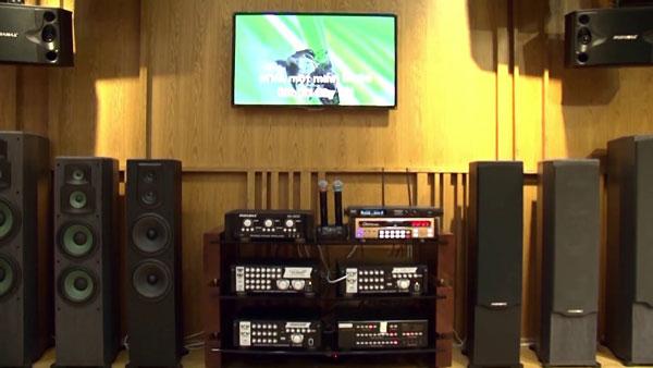 Loa paramax F1000 lắp đặt cho phòng karaoke gia đình